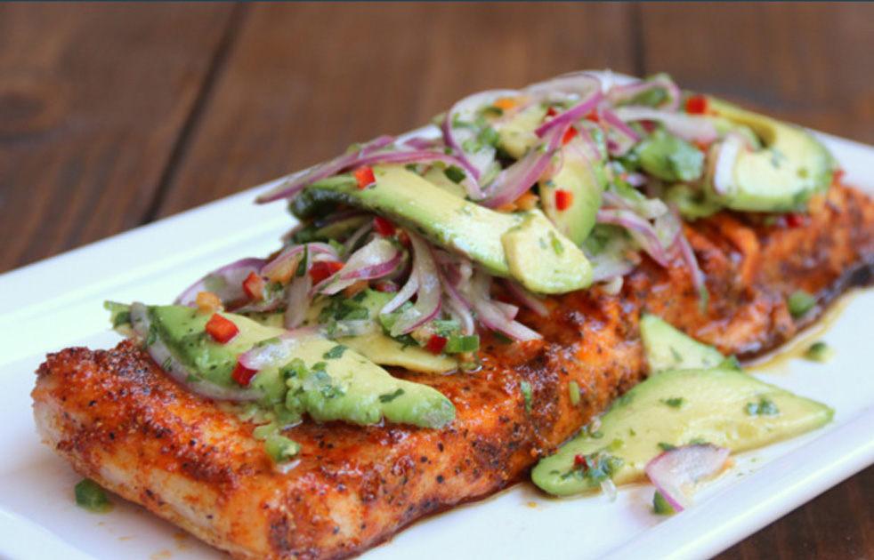 Fish-with-avocado-salsa